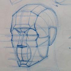Diagram in progress from today's class at @laafa #art #artist #portrait #sketch #drawing #portraitdrawing #anatomydrawing #anatomy #head #construction #figure #la #aesthetic #howtodraw #bestdm by ramon.alex.hurtado