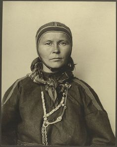 Sami woman from Finland at Ellis Island 1906