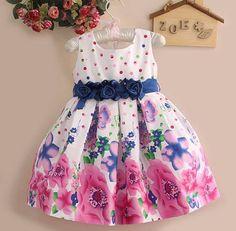 Vestido infantil em algodão Floral. Frete Gratis — Maribel Importados