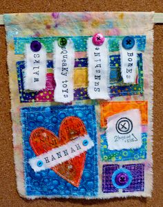 The Prayer Flag project...Jane LaFazio's project. Love the idea. Here is one for a deceased pet. So Sweet!
