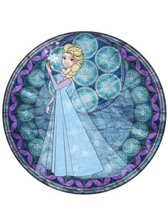 ❄️  Frozen Elsa, stained glass