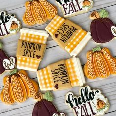 """TheBatch on Instagram: """"I know I will have to stop using the same cutters over and over eventually.... but today is not that day🍁🧡🥤 . . . . . . .…"""" Thanksgiving Cookies, Fall Cookies, Iced Cookies, Cut Out Cookies, Pumpkin Cookies, Cute Cookies, Cupcake Cookies, Turkey Cookies, Cupcakes"""