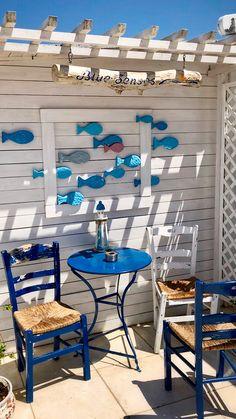 Coastal Style, Coastal Decor, Beach Cottage Style, Outdoor Spaces, Outdoor Living, Outdoor Decor, Beach House Decor, Diy Home Decor, Oar Decor