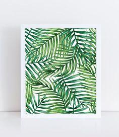 Watercolor Palm Leaf, Watercolor Plants, Tropical Leaves, Illustration, Palm…