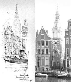 Kloveniersburgwal, Amsterdam Anton Pieck, Amsterdam Art, Kunst