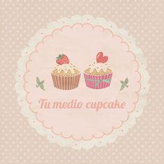 """""""Tu medio cupcake"""" logo  #cupcakes #desserts #sweet #yummy #yum #pink"""