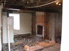 Cellar filled on to stabilize foundations, walls stripped of plasterboard ready for lime plaster.  #restoration #england #home #cellar #brick #plaster #demolition #georgian #renovation #historic #arundel #littlehampton #westsussex