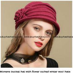 3f20bf6f51a 38 Best Flower bucket hat for women winter wool hats images
