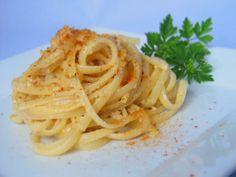 Linguine Pasta Vera con bottarga e noci!!    By Gabriella Lomazzi    www.pastavera.it    https://www.facebook.com/Pastavera