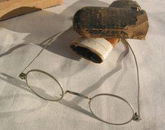 d766af5ac2d Antique Reading glasses Victorian Edwardian Spectacles Wire Frame