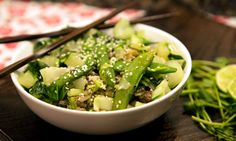 Now Go Cook Ginger Beef, Snap Peas, Seaweed Salad, Cooking, Ethnic Recipes, Food, Mushy Peas, Kitchen, Cuisine