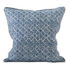 Kepos Denim linen cushion 50x50cm