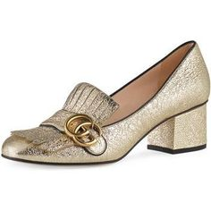 Gucci Marmont Pumps as seen on Alexa Chung