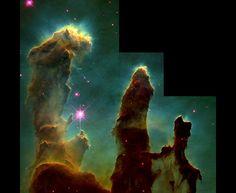 Pillars in the Eagle Nebula