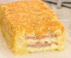 Mattonella di patate con prosciutto e scamorza senza burro