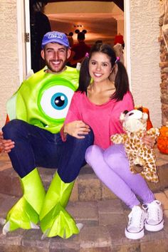 Comfort and cuteness are key on Halloween, and this Pixar costume idea covers all the bases. Your partner can dress up as Mike Wazowski, the chatty monster from Monsters Inc., and all you need to be Boo is a pair of purple leggings, an oversized pink tee, and of course your pigtails.  See more on Instagram »