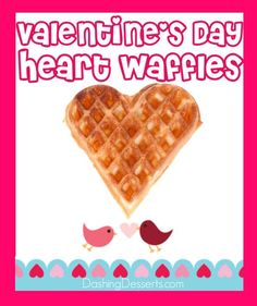 How to make heart shaped waffles for Valentine's day <3