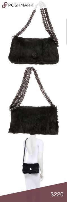 ‼️TORY BURCH Fur Crossbody Bag‼️ TORY BURCH Black Rabbit Fur Bag with leather detailing, detachable chain link shoulder strap, snap closure at flap. Perfect piece to take into the Fall season with gorgeous gunmetal hardware. Never worn in pristine condition!                                                             ‼️FEEL FREE TO MAKE REASONABLE OFFER‼️ Tory Burch Bags Crossbody Bags