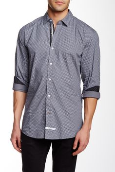 Long Sleeve Woven Trim Fit Shirt by English Laundry on @HauteLook