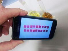 El móvil detecta diferencias de color que descubren el mercurio. | J.M García et al.