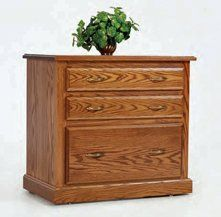Highland Two Drawer Lateral Filing Cabinet YT-883 by Amish Furniture House. $825.00. Shown In Oak Choose from storage, filing or computer credenzas and several styles of hutch tops...just the right combination for that little nook that only a modular office collection can fill. The Highland collection features simple and tasteful crown molding. The drawers are dovetailed and come with full extension drawer slides. Need extra space on your desk? Pull out the secretary slid...
