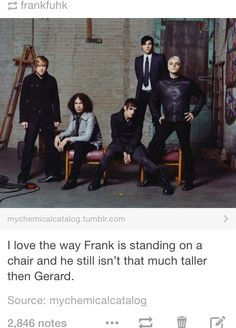 i love how gerard always has some level of sass no matter what... :)