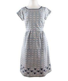 Gray Tagalong Triangle Dress by Mata Traders #zulily #zulilyfinds