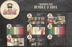 Bundle - Wonderland by On A Whimsical Adventure on @creativemarket