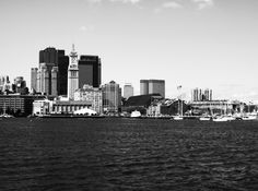 skyline and harbour
