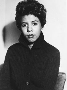 Lorraine Hansberry - African-American playwright and writer. Hansberry was the first black female author to have a play performed on Broadway. Lorraine Hansberry, Michael Rosen, Elizabeth Barrett, Civil Rights Activists, Nina Simone, Playwright, African American Women, African Americans, Book Images