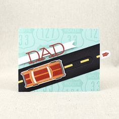 Classic Dad Card by Lizzie Jones for Papertrey Ink (June 2016)