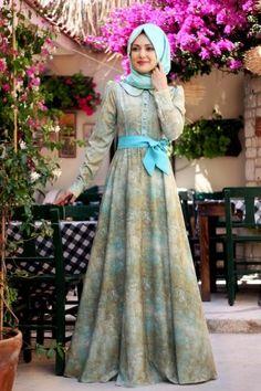 Gamze Polat - Mint Sahra Elbise