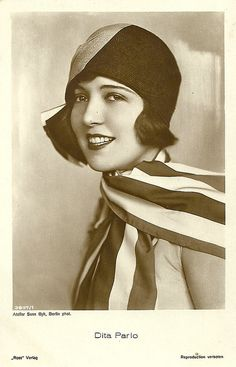 Dita Parlo, (1906-1971). German film actress. Made her first film appearance in 1928 and quickly became a popular actress in Germany. During the 1930s she moved easily between German and French language films. She attempted to establish a career in American films but despite a couple of roles in Hollywood movies, was unable to extend her European success.