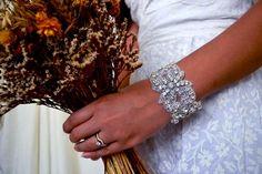 DIY Rhinestone Applique Cuff : DIY Wedding DIY Bridal Accessories DIY Cuff DIY Bracelet