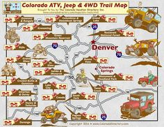 Interactive Map of Colorado's ATV/UTV Jeep & off-road trails. View trail maps, conditions and find accommodations and rentals for you and your family. Atv Riding, Trail Riding, Colorado Springs, Colorado Trip, Aspen, 4x4, Silverton Colorado, Jeep Trails, Skirt Mini