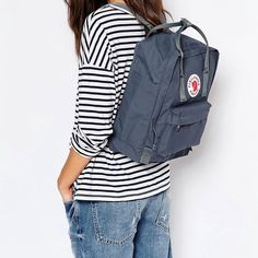 Fjallraven Graphite Kanken Backpack Kanken 23510 Classic Bag. Used for one week and then realized that I needed a bigger backpack. Even has the foam insert still inside. Fjallraven Bags Backpacks
