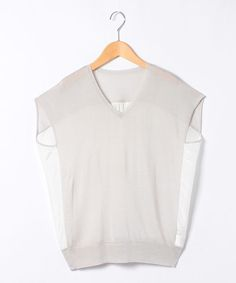 White panelled blouse