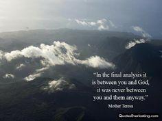 The Final Analysis Mother Theresa