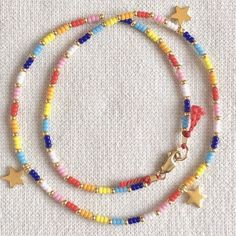 Beaded Choker Necklace, Seed Bead Necklace, Seed Bead Jewelry, Moon Necklace, Diy Necklace, Cute Jewelry, Beaded Jewelry, Handmade Jewelry, Beaded Bracelets