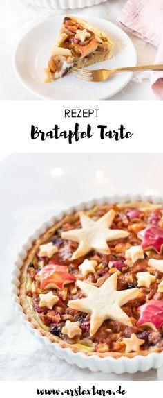 Weihnachten Rezept: Bratapfel Tarte mit Sternen - ein tolles Dessert fürs Weihnachtsmenü #weihnachten #bratapfel #weihnachtsrezept
