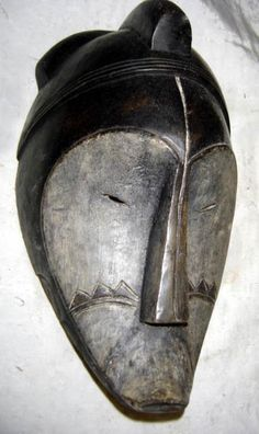 """Unknown Artists. Fang Mask, not dated. Wood carve in France, Collection of Geneviere Taillade. Formerly owned by Andre Derain (see Lynton, N 1980: 29, another example).""""[A]ndré Derain had several African sculptures in his studio and that Henri Matisse together with Pablo Picasso saw African art there."""""""