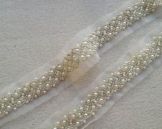 1 Yard Wedding Trim, Ivory Pearl Beaded Trim, Bridal Sash Belt Lace Supply ◆ This listing is for 1 Yard. ◆ Measuring is about cm) wide ◆ Wedding Belts, Wedding Sash, Ivory Wedding, Wedding Dress, Beaded Trim, Beaded Lace, Beaded Embroidery, Crewel Embroidery, Lace Trim