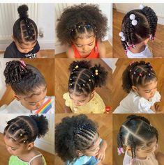 Black Baby Girl Hairstyles, Little Girls Natural Hairstyles, Cute Toddler Hairstyles, Childrens Hairstyles, Kids Curly Hairstyles, Mixed Baby Hairstyles, Girl Hair Dos, Natural Hair Styles, Short Natural Curly Hair