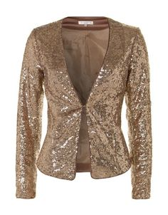 via www.planetjanet.nl   voor geen goud Gold Sequin Jacket, Blazer, Evening Dresses, Maxi Dresses, Beauty Skin, Personal Style, Sewing Patterns, Sequins, Couture