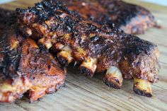 Memorial Day Recipe: Fall-Off-The-Bone BBQ Baby Back Ribs with Homemade Barbecue Sauce Grilling Recipes, Pork Recipes, Cooking Recipes, Bbq Baby Back Ribs, Bbq Pork Ribs, Homemade Barbecue Sauce, Spare Ribs, Pork Dishes, Recipes