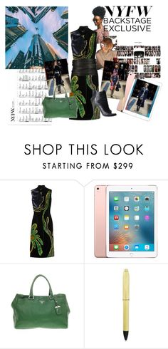 """""""NYFW"""" by ical-rox ❤ liked on Polyvore featuring Prada, Apple, BCBGMAXAZRIA, Cross, NYFW and whattopackforNYFW"""