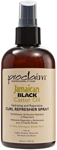 Proclaim Jamaican Black Castor Oil Curl Refresher Spray Jamaican Black Castor Oil Black Castor Oil Castor Oil