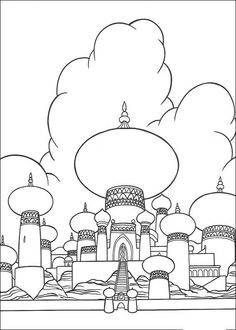 Fargelegging Aladdin. Tegninger 26