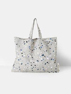 Tote Bag - Terrazzo - Grey - XL