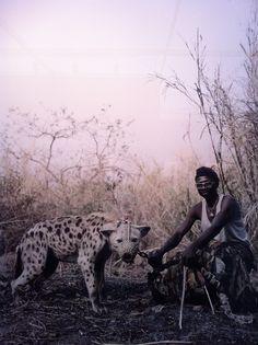 Photo by Pieter Hugo . Nigeria .     http://www.pieterhugo.com/the-hyena-other-men/